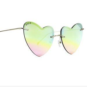 Diff Remy Pastel Rainbow Heart Sunglasses